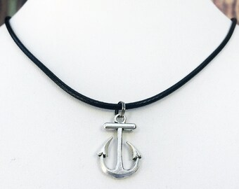 Anchor Necklace, Silver Anchor Necklace, Anchor Charm Necklace, Travel Necklace, Sea Necklace, Wanderer Necklace Anchor Jewelry Perfect gift