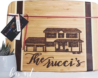 Custom Burned Home Cutting Board.
