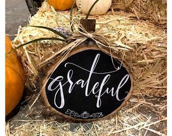 Chalk Grateful Pumpkin.