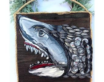 Upcycled Shark Head.