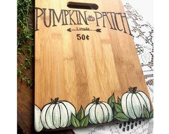 Pumpkin Patch w/ painted pumpkins.
