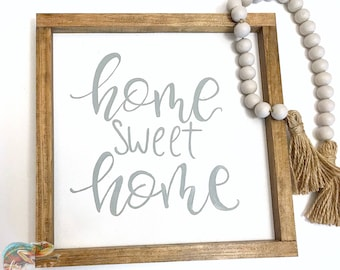 """""""Home Sweet Home"""" -Farmhouse Style Sign."""