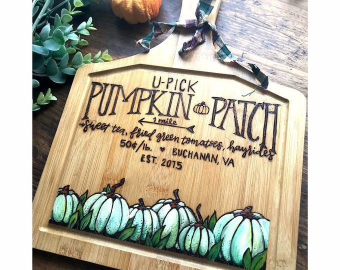 Custom- U Pick Pumpkin Patch.