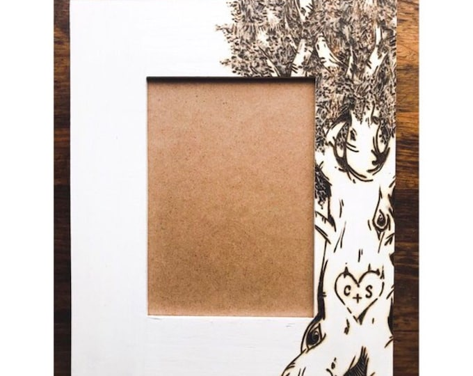 Burned Tree Picture Frame. Personalize now!