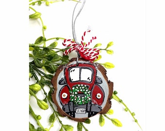 Red Truck Christmas Ornament.
