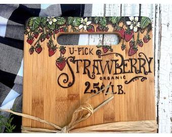 Upick Strawberry Board