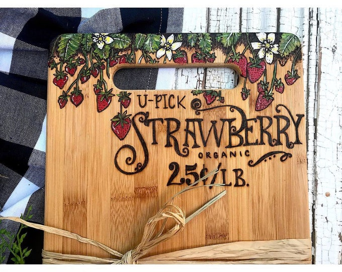Upick Strawberry Board