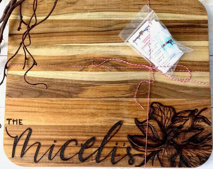 Magnolia- Teak Cutting Board