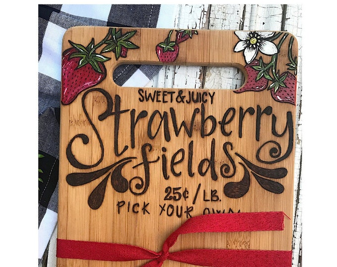 Strawberry Fields Cutting Board.