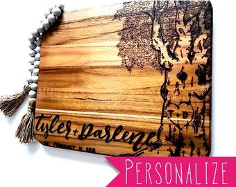 Personalized-- Teak Cutting Board.