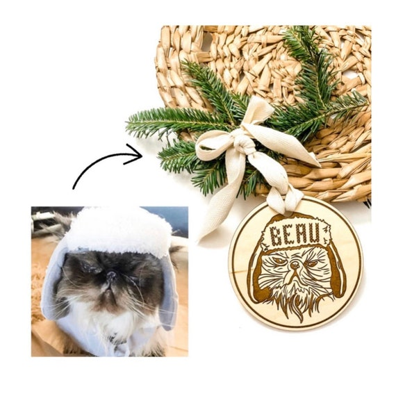 Pet ornament. Cat drawing ornament. Engraved ornament. Pet portraits. Custom pet ornament. Dog ornament. Cat ornament. Personalized pet