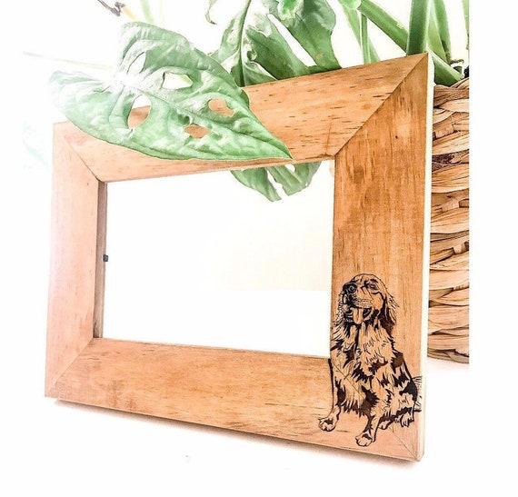 Dog Picture Frame. Custom dog photo. Pet photo picture frame. Custom picture frames. Pet photos. Custom picture frames. Personalized frames.