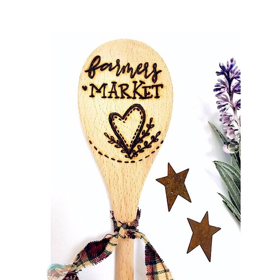 Farmers Market Wooden Spoon.