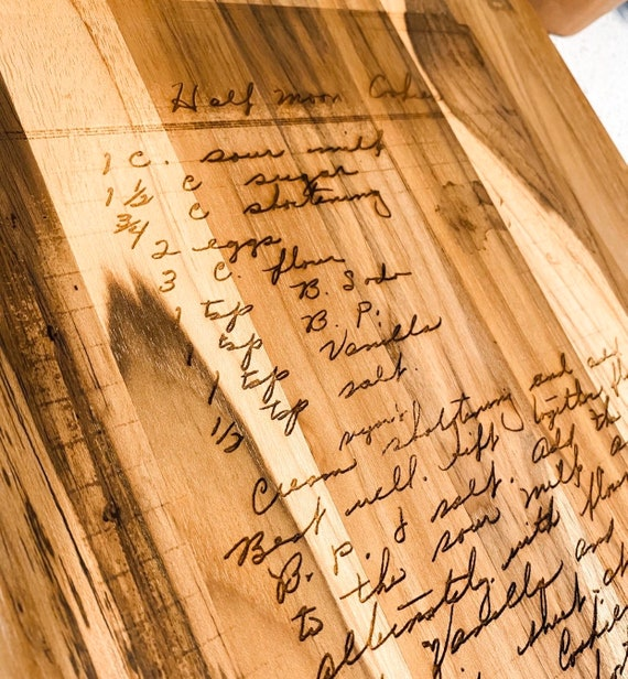 Handwritten recipe boards. Engraved recipe boards. Recipe cutting board. Plantation teak cutting board. High quality cutting board. Teak