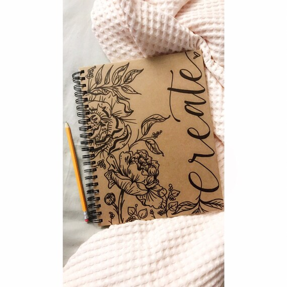 Floral Sketchbook. Personalize now!