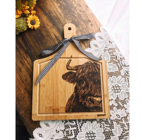 Pyrography- highland cow.