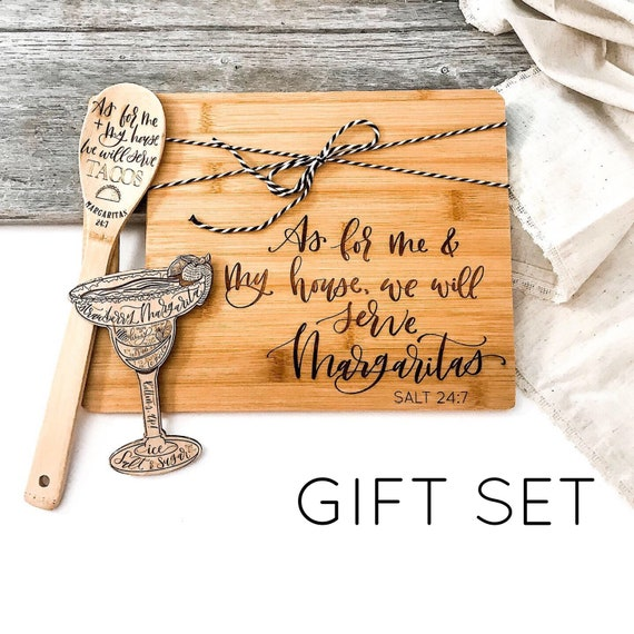 Margarita Gift Set. Margarita Gifts. Margarita Kitchen Gifts. As for me and my house we will serve margaritas. Margarita Magnet. Personalize