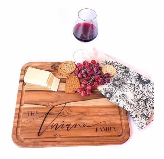 Personalized Cutting Board. Personalized Cheese Board. Cheese Boards. Teak Cutting Board. Custom Cheese Board. Family name cutting board.