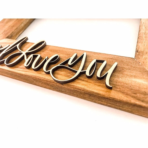 3D laser name picture frame. Calligraphy. Laser cut name. Laser picture frames. Engraved picture frames. Custom calligraphy. Wedding gifts.