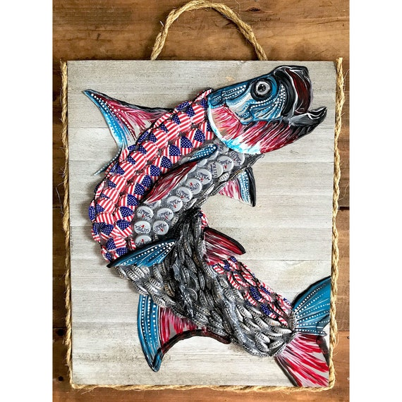 Upcycled Patriotic Tarpon.