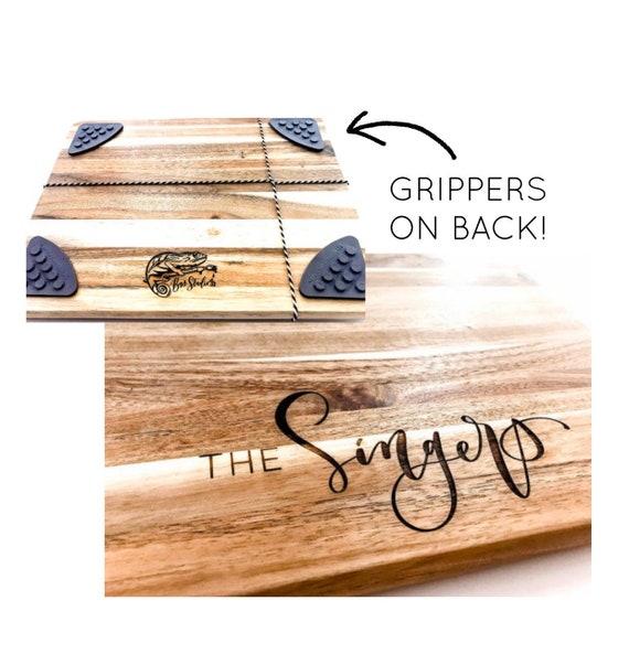 Custom Engraved Cutting Board. Acacia cutting board. Engraved logo. Personalized engraved cutting boards. Wedding Gifts. Housewarming gifts