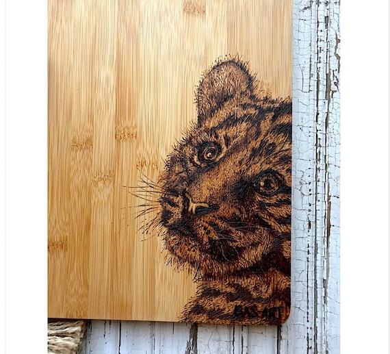 Pyrography- Tiger Cub.