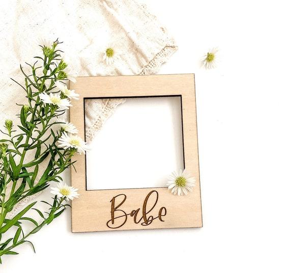 Wooden Polaroid frame. Polaroid. Polaroids. Polaroid frames. Babe frame. Anniversary frame. Anniversary gift. Wedding frame. Polaroid gifts.