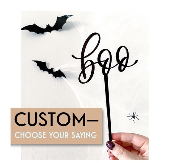 Halloween cake toppers. Boo cake topper. Halloween party. Party decorations. Halloween party decorations. Halloween cupcake topper. Cake