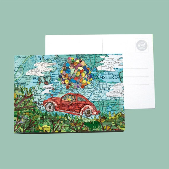 World map postcards - Events and seasonal