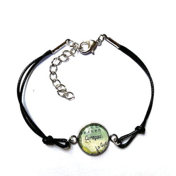 Personalized World map bracelet - central america variations