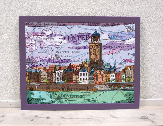Map poster :Netherlands eastern