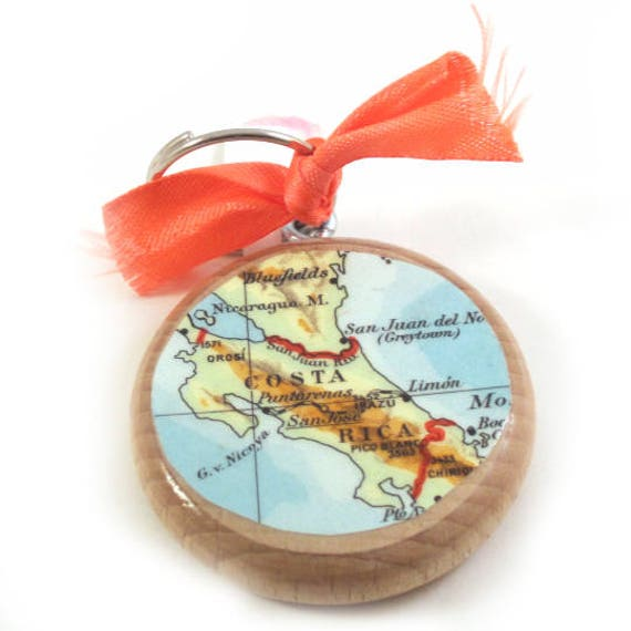 Personalized World map keychain - Latin America variations