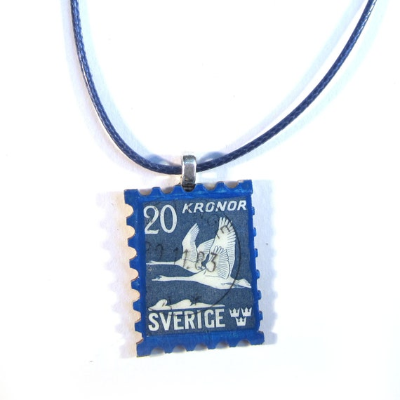 Postage stamp necklace - Europe variations