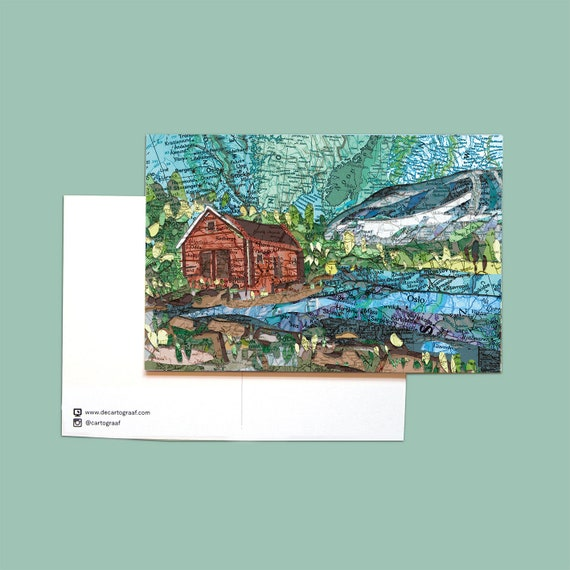 World map postcards - Scandinavia series