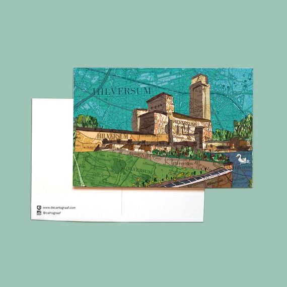 World map postcards - Gooi area series