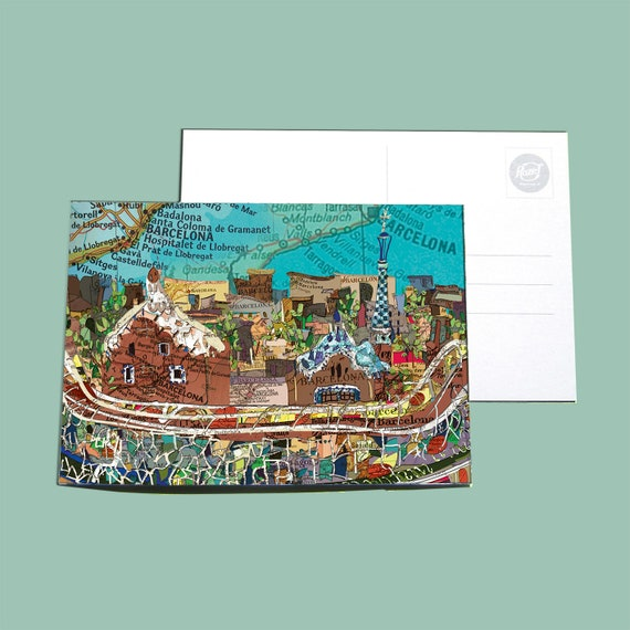 World map postcards - Spain and Portugal series