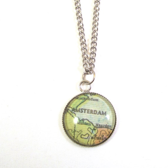 Map necklaces - Netherlands variations 20 mm
