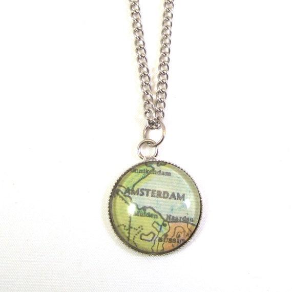 Map necklaces - Netherlands variations 20 mm