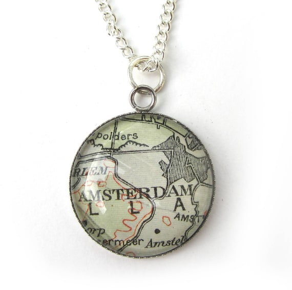 Map necklaces - The Netherlands variations 25 mm