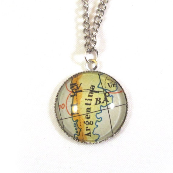 Map necklaces - Latin America variations 20 mm