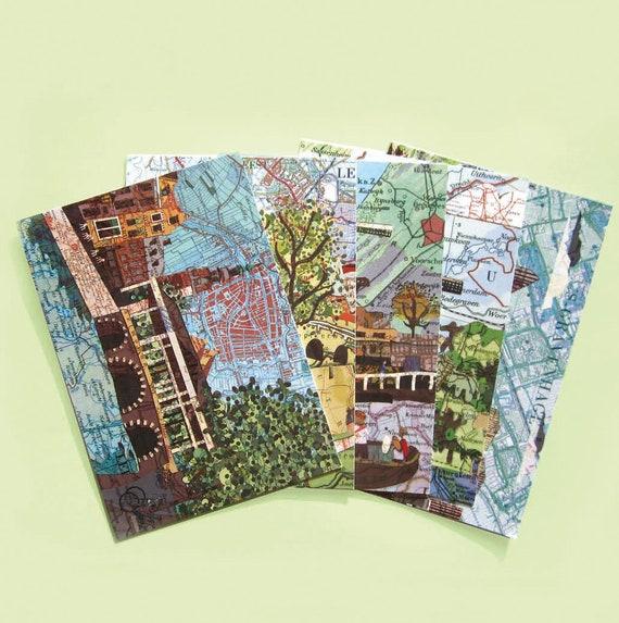 World map postcards - Zuid Holland