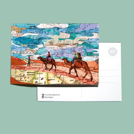 World map postcards - Africa series