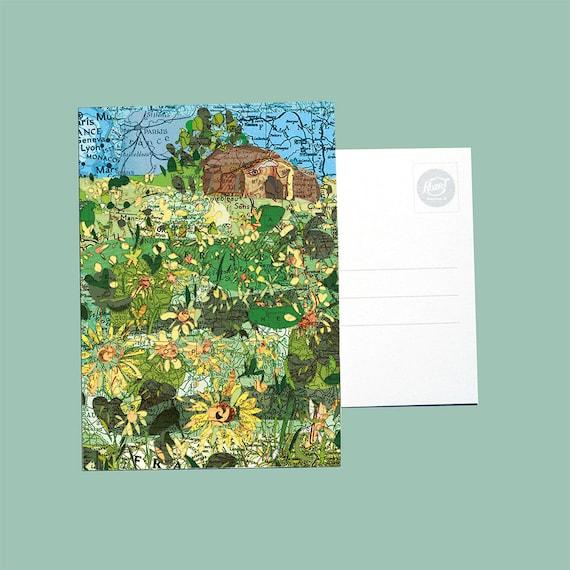 World map postcards - France series