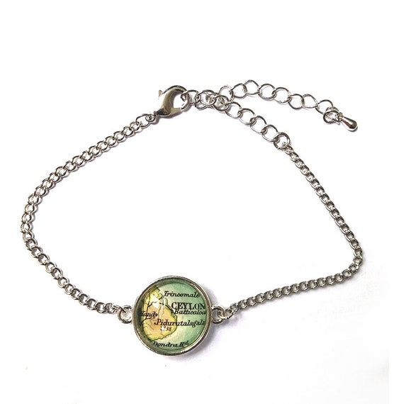personalized World map bracelet - Asia / Indonesia variations