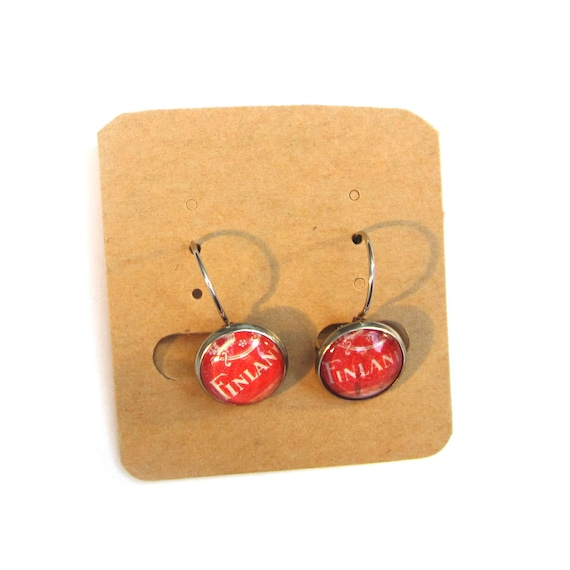 Postage stamp earrings - Europe