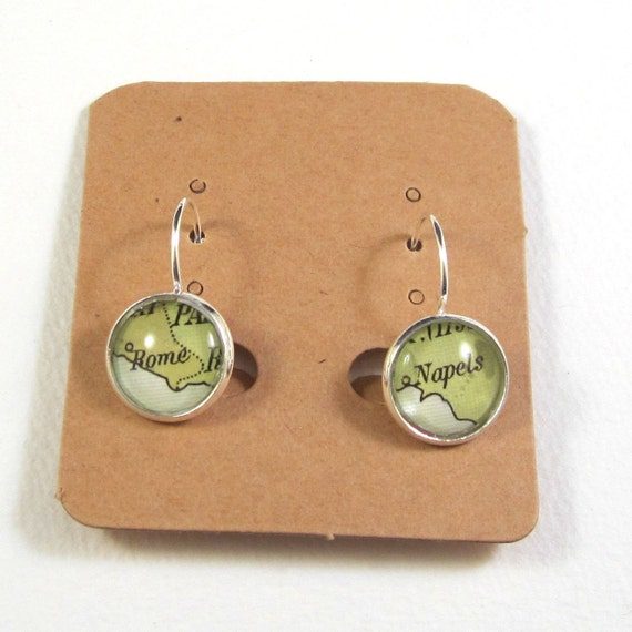 Personalized World map earring - South Europe variations