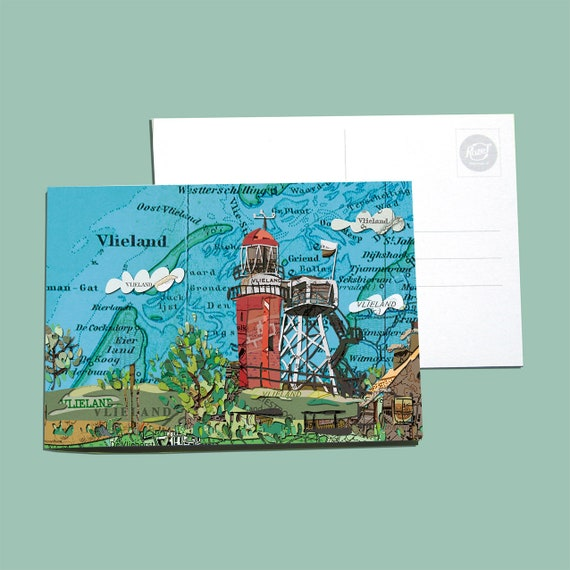 World map postcards - Northern Netherlands