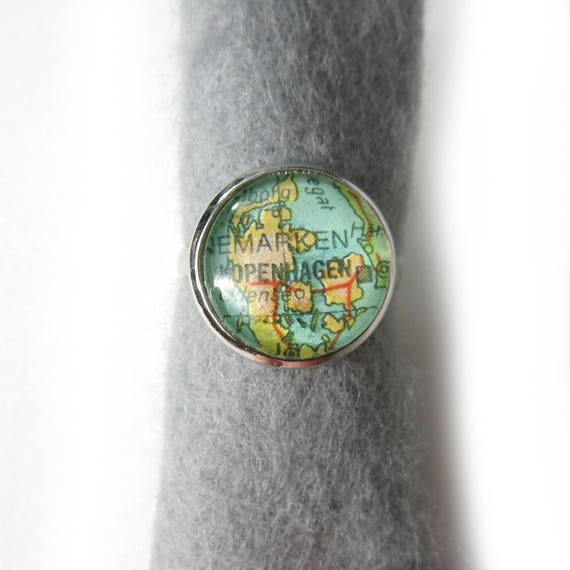 Personalized Map Ring - Europe variations