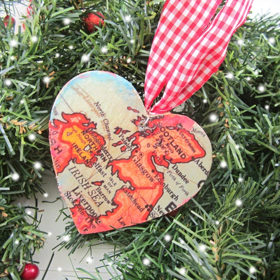 World map christmas decoration - Europe