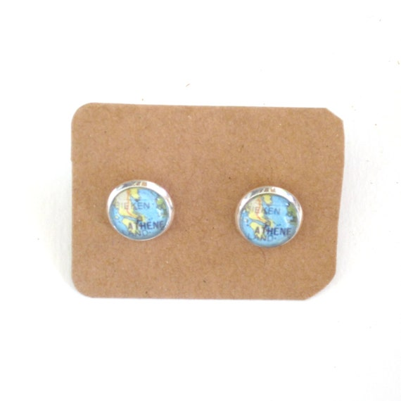 Personalized Map earrings - South Europe variations